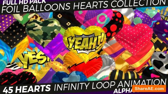 Videohive Foil Hearts - Balloons Collection
