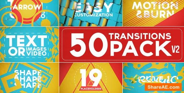 50 Transitions Pack with Opener - After Effects Project (Videohive)