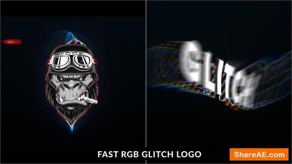 Videohive Fast RGB Glitch Logo Intro
