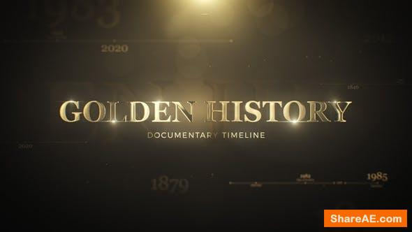 Videohive Golden History Documentary Timeline 29986227