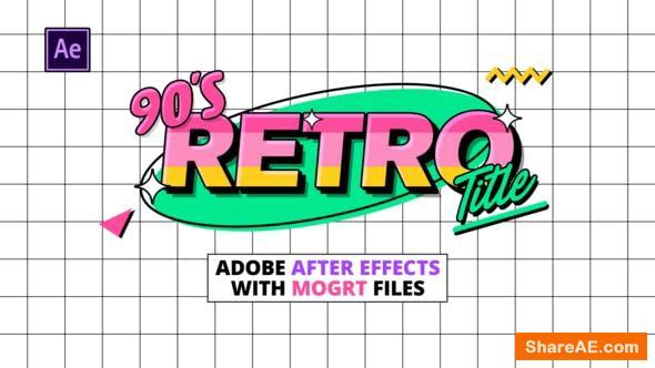Videohive 90s Retro Titles 30505196