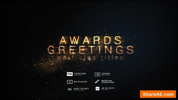Videohive Awards and Greetings | Particles Titles 29834549