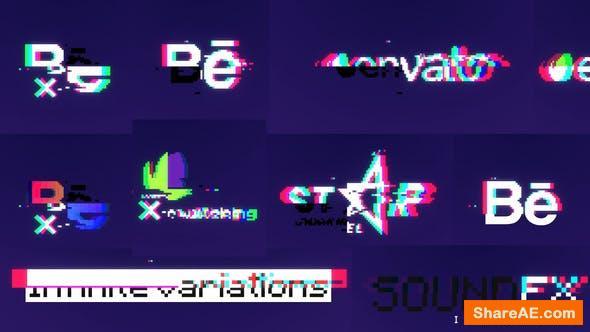 Videohive 8bit Glitch Logo Reveal 34242333