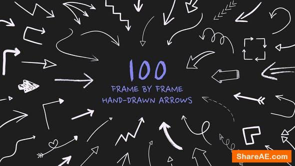 Videohive Frame By Frame Hand Drawn Arrows 34067494