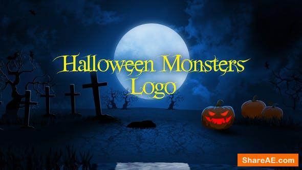 Videohive Halloween Monsters Logo 34167587