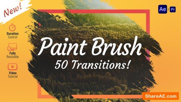 Videohive Paint Brush Transitions 31434194