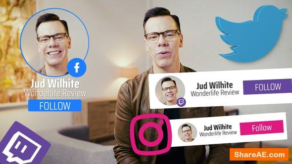 Videohive Lower Thirds Social Media edition 31167778
