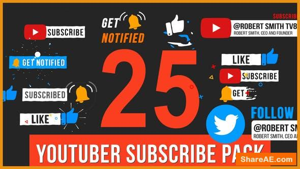 Videohive Youtuber Subscribe Pack 33822230